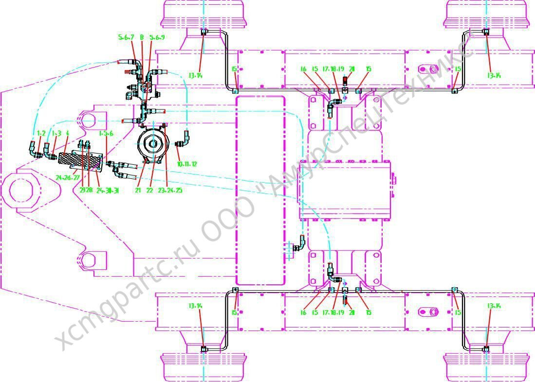 автокран xcmg qy25k5 эл,схема