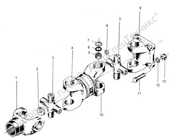 Z30.7B ЗАДНЯЯ ТРАНСМИССИОННАЯ ОСЬ (REAR DRIVE SHAFT) (ZLM30-5)