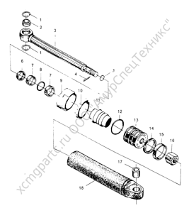 Главная  »  Каталоги запчастей  »  ZLM30-5  »  Z30.10M.6(7) Левый (Правый) поворотный цилиндр (Left(Right) Steering System)