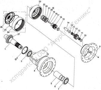 планетарный редуктор xcmg gr165
