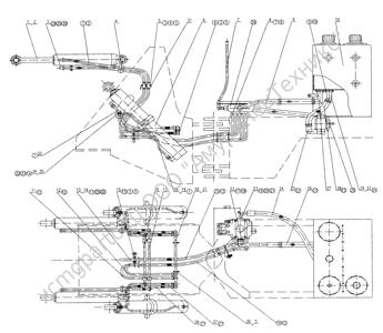 Z30.14M РАБОЧАЯ ГИДРОСИСТЕМА (ДВА КОНТУРА) (HYDRAULIC SYSTEM) (ZLM30-5)