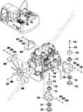 40C2105(A)  ENGINE MOUNTING(A)