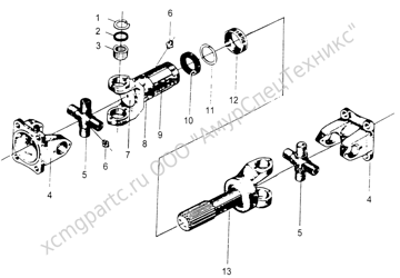 Z30.5A.2 ТЕЛЕСКОПИЧЕСКИЙ ВАЛ ПЕРЕДНЕЙ ТРАНСМИССИОННОЙ ОСИ (FRONT DRIVE SHAFT TELESCOPIC SHAFT) (ZLM30-5)